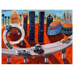 "Frank Romero ""Cheech's Downtown"" Giclee Print Limited of 190 Signed"