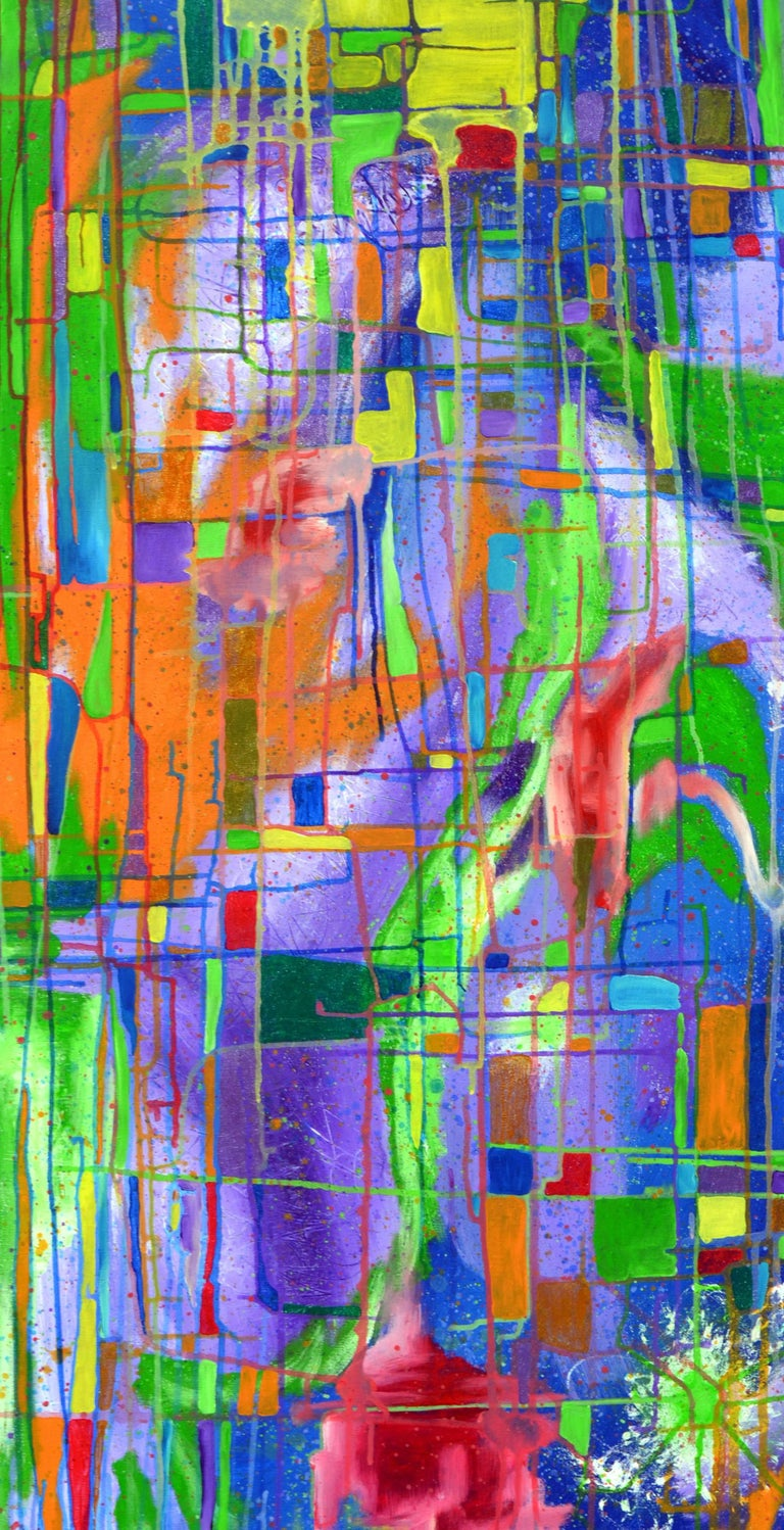 San Francisco Views, by Aromas Artist Frank Romero - Abstract Expressionist Painting by Frank Romero