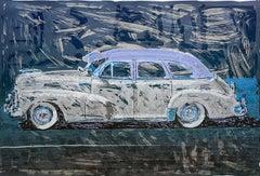 Blue Chevy Lowrider