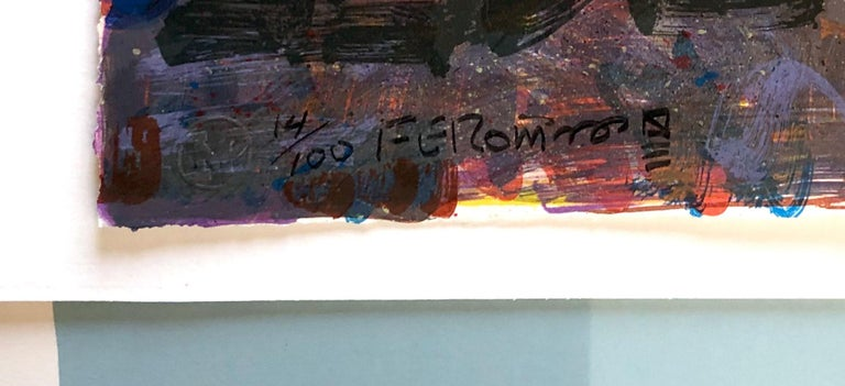 The Death of Reuben Salazar - Print by Frank Romero