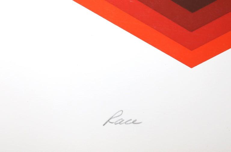 Race, Op Art Screenprint by Frank Rowland For Sale 3