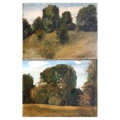 Frank S. Butler, Pair Autumnal Landscapes