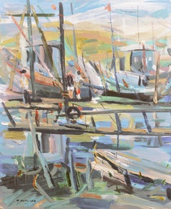 'On the Pier, Palo Alto', California, National Academy of Design, Oakland Museum