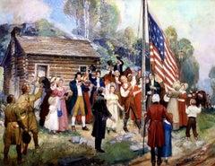 The First Flag Raising