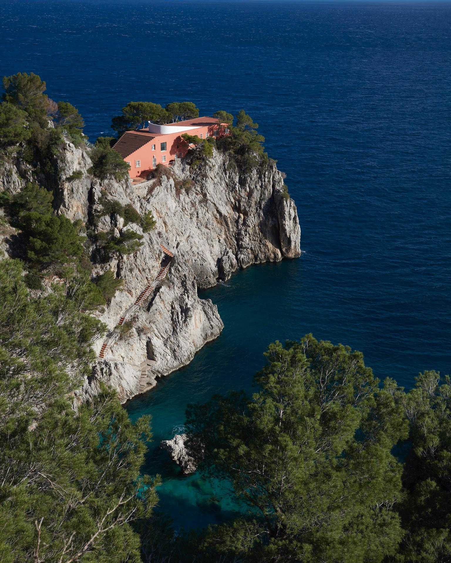 Casa Malaparte - large photograph of iconic Mediterranean villa on Capri island