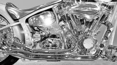 Chopper 2003 - large format photograph of iconic Harley Davidson chrome details