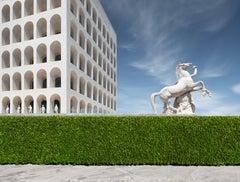 Colloseo Quadrato - iconic neoclassical architectural elements in Rome