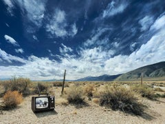 Cowboy TV - extralarge format photograph of iconic western in American landscape