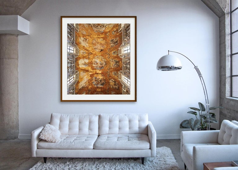 Hallelujah - large format photograph of baroque Italian palazzo fresco ceiling - Brown Color Photograph by Frank Schott