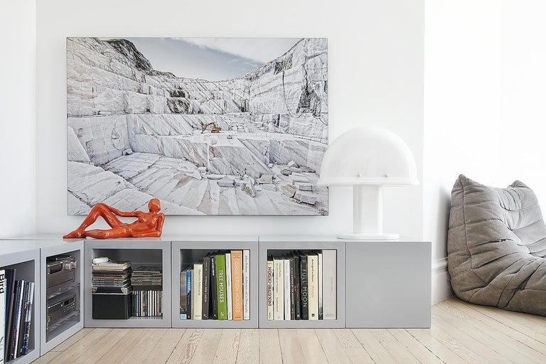 Marmo di Carrara - large format photograph of iconic Italian marble quarry For Sale 1