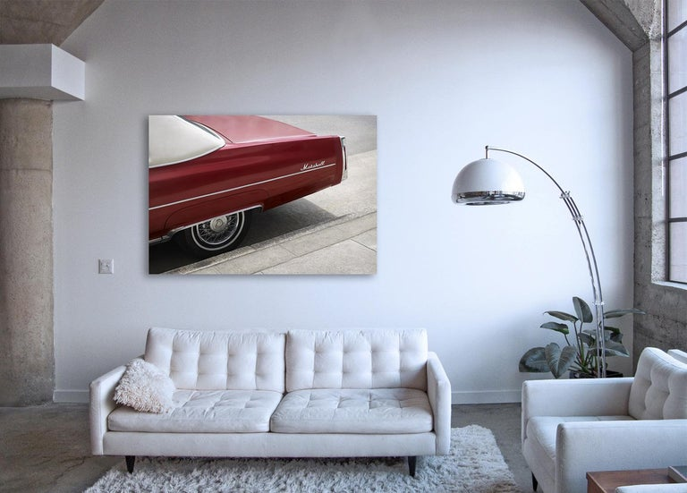 Marshall - large format photograph of iconic cherry red Cadillac automobile - Conceptual Photograph by Frank Schott