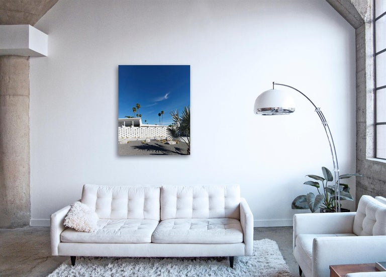 Palm Springs ( White ) - a study of iconic mid century desert architecture  - Photograph by Frank Schott