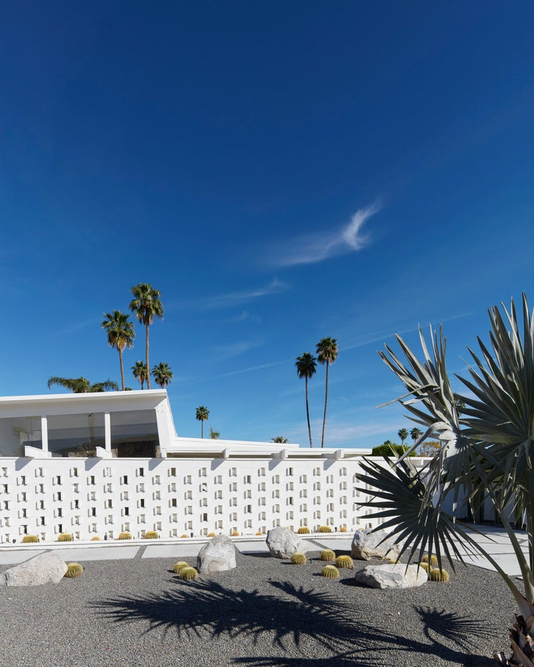 Frank Schott Color Photograph - Palm Springs ( White ) - a study of iconic mid century desert architecture