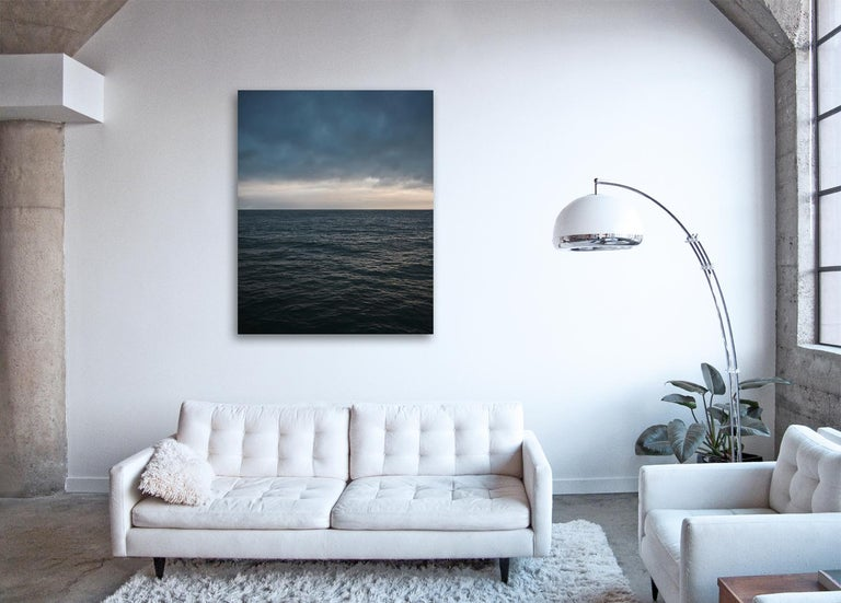 an homage to Mark Rothko, large scale abstract photograph of muted color monochromatic water surface  SEASCAPE IV by Frank Schott  available in two edition sizes 72.5 x 58 inches / 184cm x 147cm ( framed )