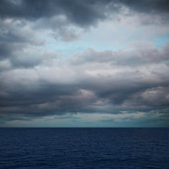 Seascape IX  - large format photograph of blue water surface