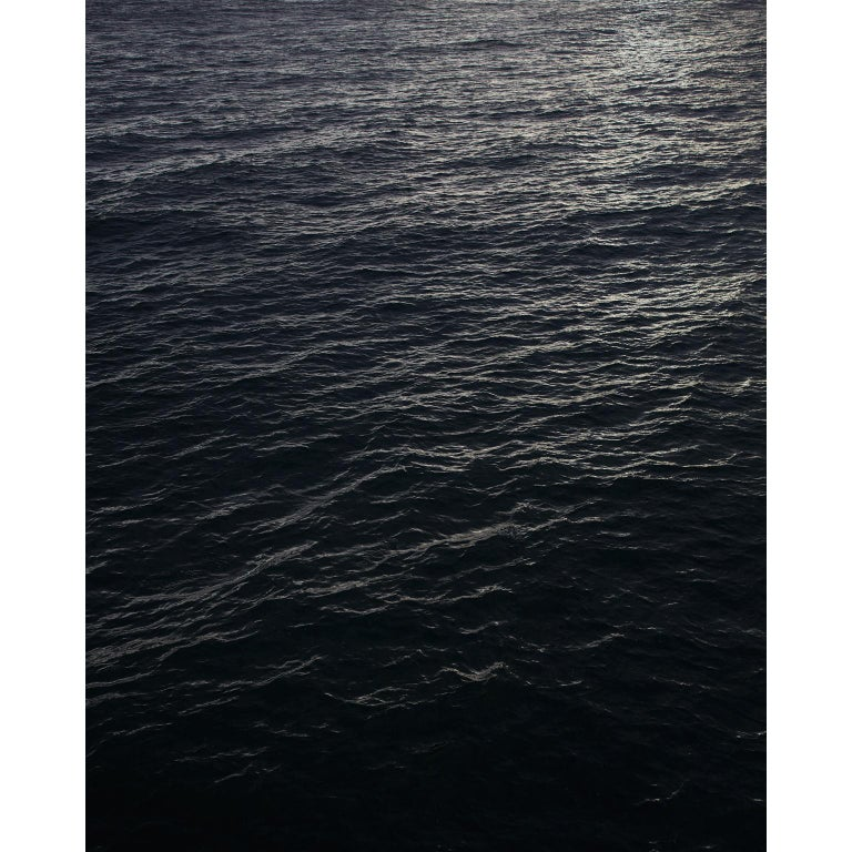 Seascape V - large format photograph of monochromatic black white water surface - Contemporary Print by Frank Schott