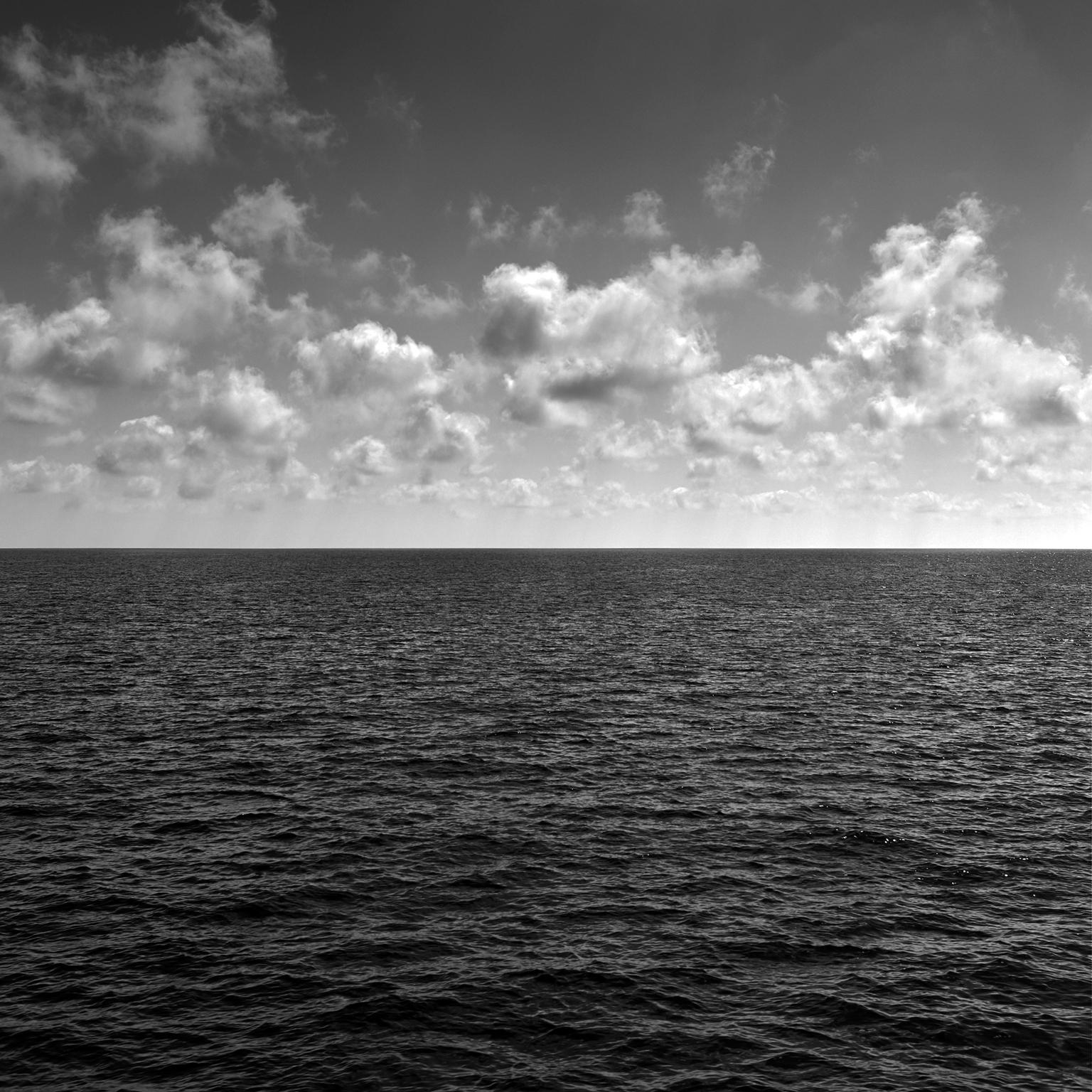 Seascape VII - large format photograph of cloud formations and reflecting sea