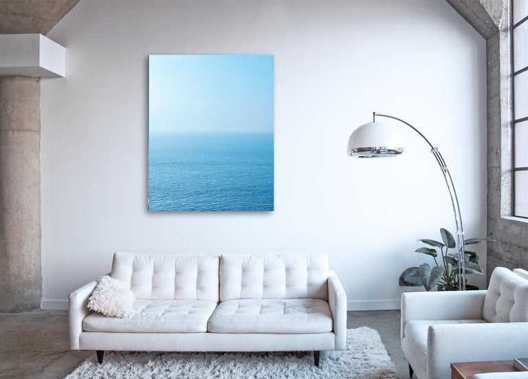 Seascape VIII - large format photograph of blue toned water surface - Photograph by Frank Schott