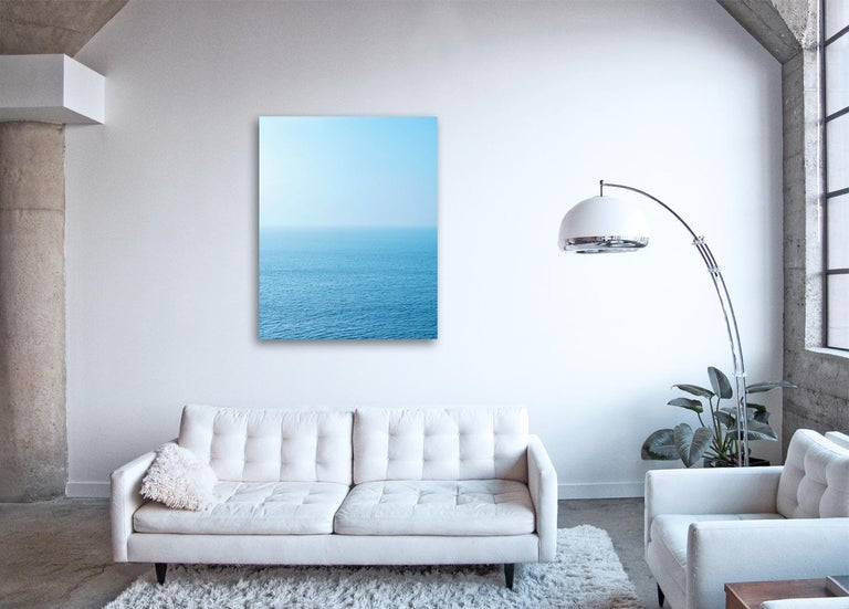 Seascape VIII - large format photograph of blue toned water surface - Contemporary Photograph by Frank Schott