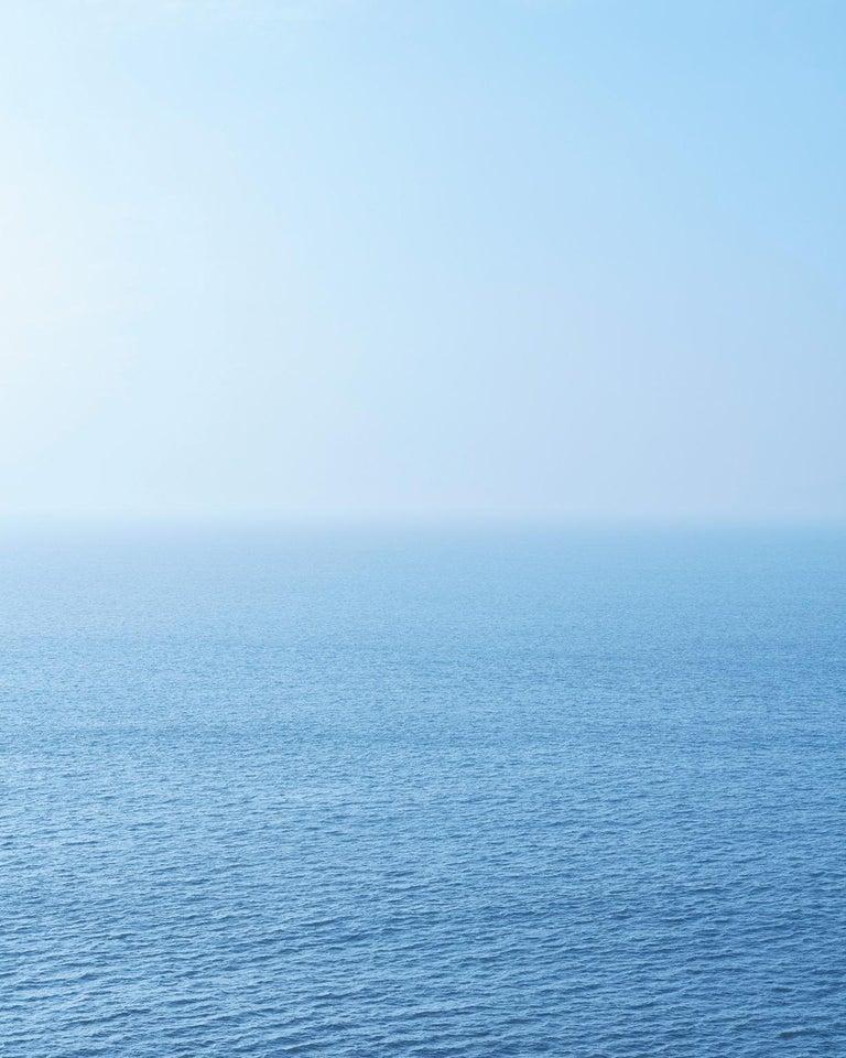 Frank Schott Color Photograph - Seascape VIII - large format photograph of blue toned water surface