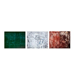 Tricolore - abstraction of urban Italian color palette and palimpsest textures
