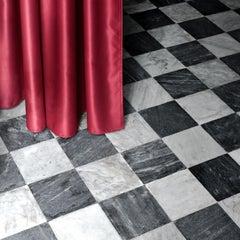 Untitled (Crimson) - large scale photographic details of baroque Italian palazzo