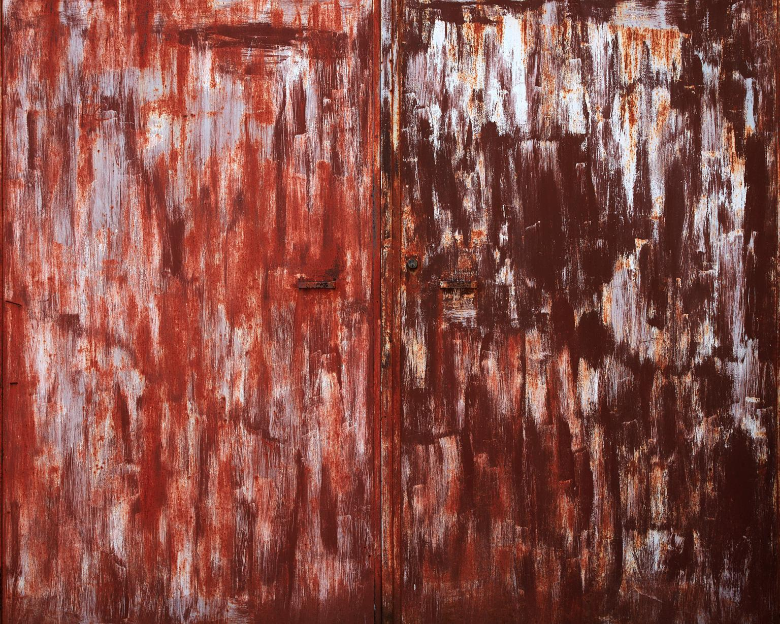 Wallscape II - abstract photograph of rust red toned wall textures