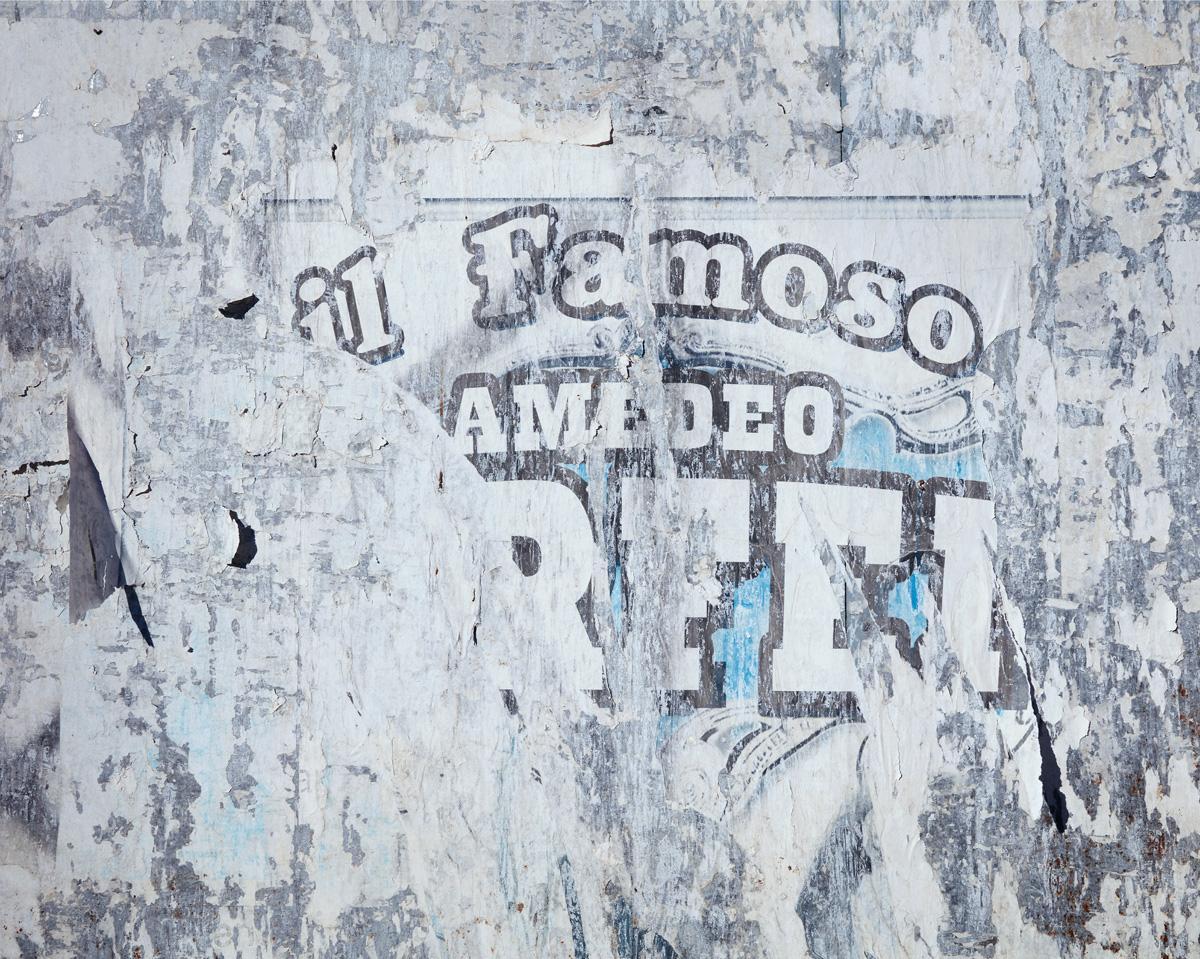 Wallscape VI ( Il Famoso ) - abstract capture of vintage Italian circus poster