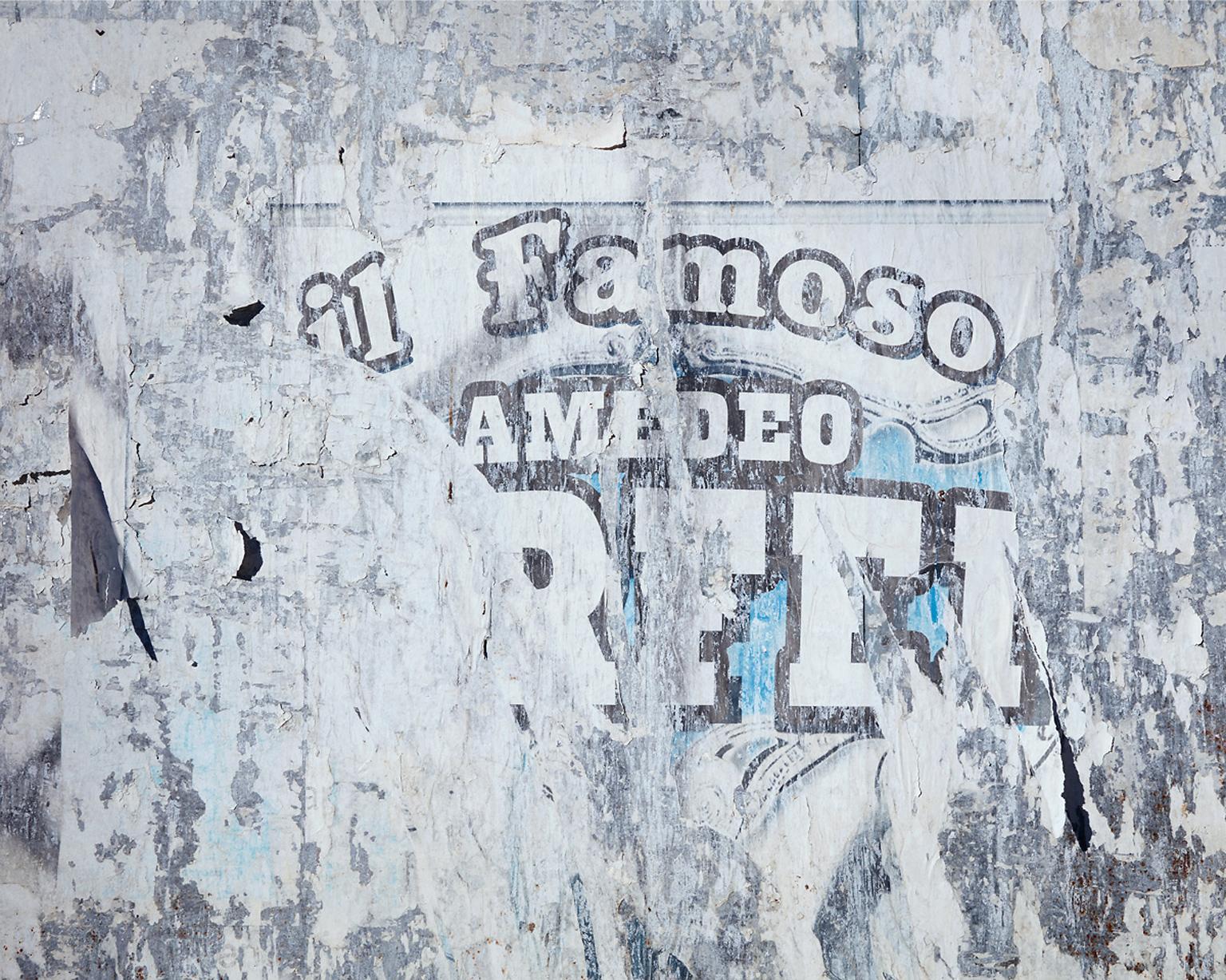 Wallscape VI (Il Famoso) - abstract capture of vintage Italian circus poster