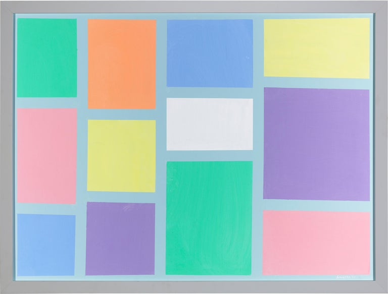 Pastel Squares - Painting by Frank Sinatra