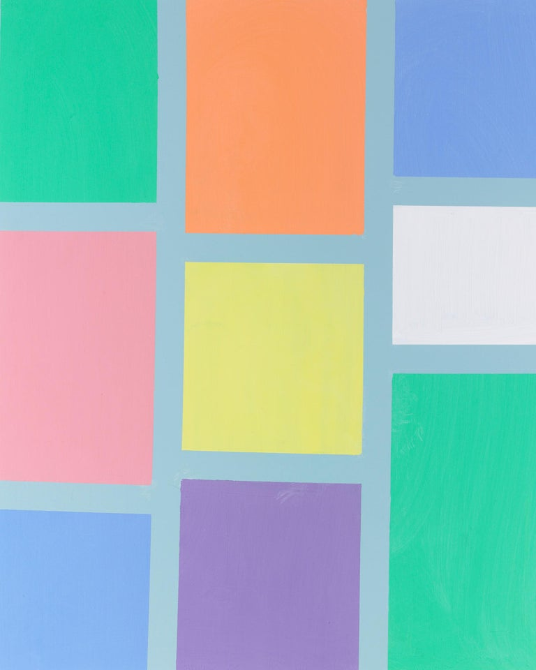 Pastel Squares - Abstract Painting by Frank Sinatra