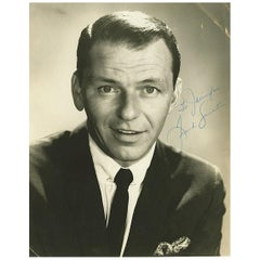 Frank Sinatra Signed Photograph Black and White 20th Century