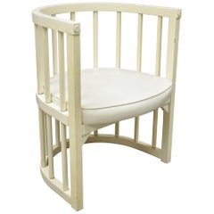 Frank & Son Midcentury Wood Spindle Barrel Back Craftsman Club Lounge Armchair
