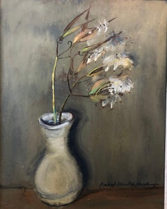 Flowers in a Vase Southern Oil Painting Modernist Floral Still Life