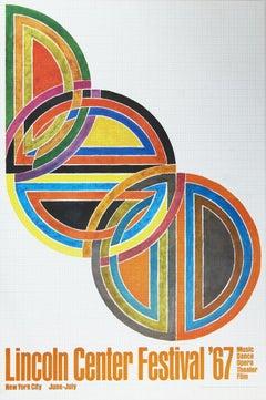 1967 After Frank Stella 'Lincoln Center Festival' Minimalism Multicolor
