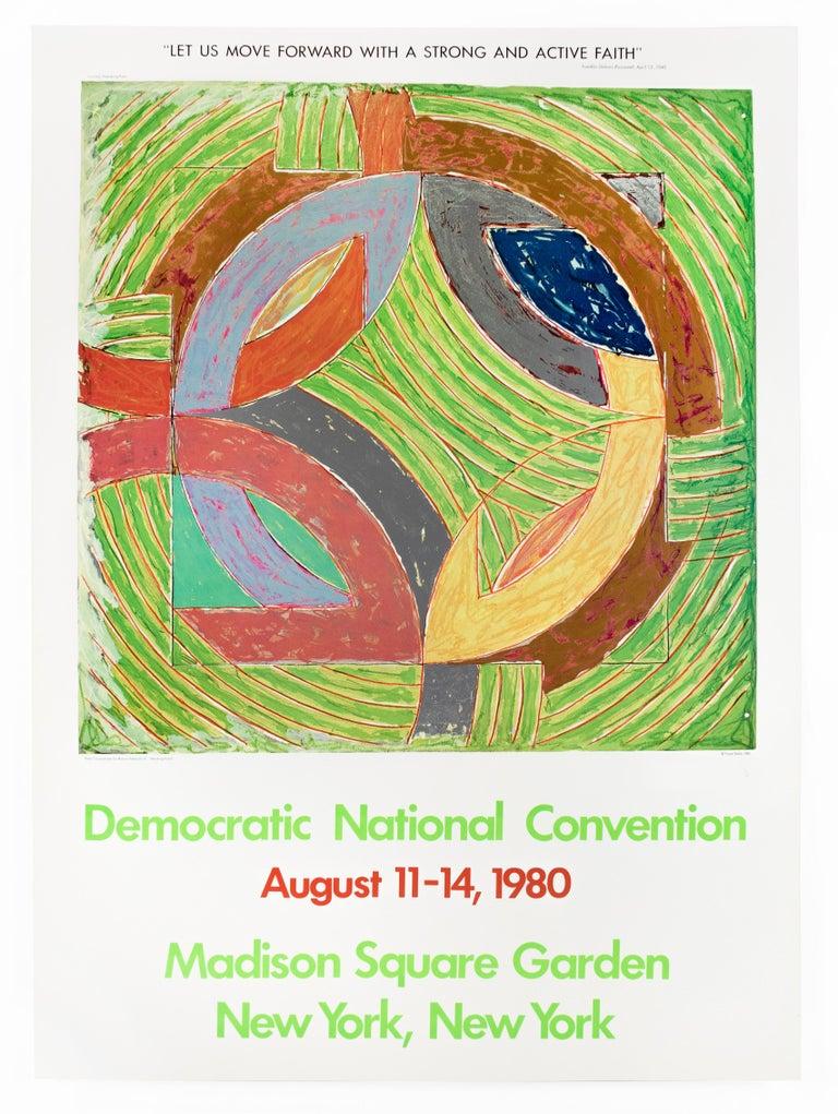 1980 Democratic Convention Frank Stella colorful vintage Pop political poster  - Pop Art Print by Frank Stella