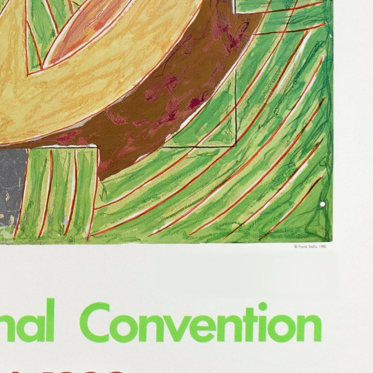 1980 Democratic Convention Frank Stella colorful vintage Pop political poster  - Brown Abstract Print by Frank Stella