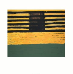 2003 Frank Stella 'Seward Park' Minimalism Green,Yellow,Black Serigraph