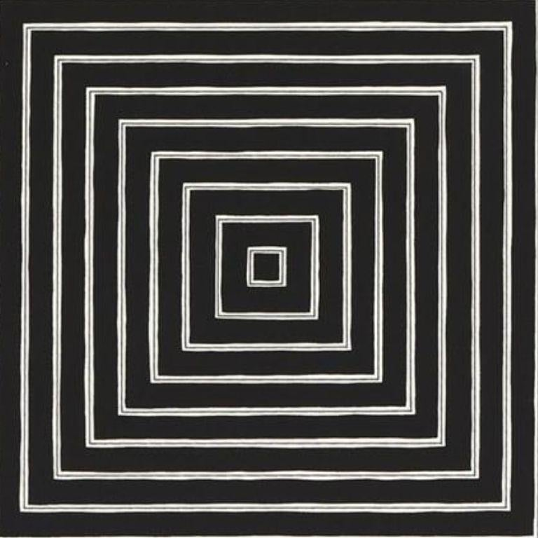 Angriff -- Screen Print, Stripes, Black and White, Contemporary, by Frank Stella For Sale 2