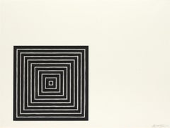 Angriff -- Screen Print, Stripes, Black and White, Contemporary, by Frank Stella