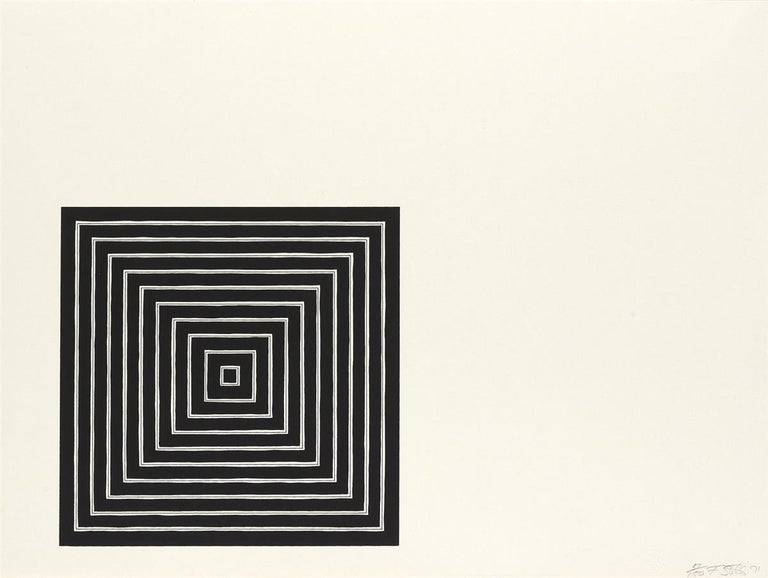 FRANK STELLA Angriff, 1971   Screenprint in black and grey, on Fabriano paper Signed, dated and numbered from the edition of 150 From Conspiracy: The Artist as Witness Printed by Styria Studio, New York Published by the Center for Constitutional