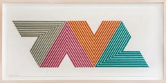 Frank Stella, Empress of India II, from V Series, Lithograph, 1968