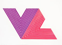 Frank Stella, Ifafa I, Lithograph with Varnish, 1968