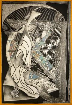 Frank Stella, Jonah Historically Regarded, Aquatint, Screen Print, 1991