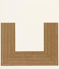 """Frank Stella """"Lake City"""" Screenprint, 1970"""