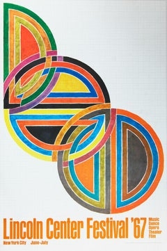 Frank Stella - Lincoln Center Festival - 1967 Poster