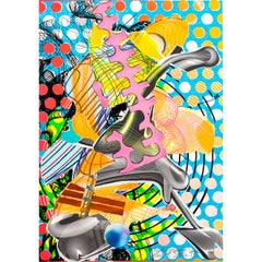 Frank Stella, Lithography 'Prince of Hohenfließ', 100/100, 1997