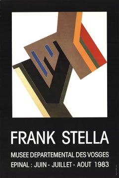 """Frank Stella-Musee Departemental Des Vosges-28.75"""" x 19.25""""-Poster-1983-Minimali"""