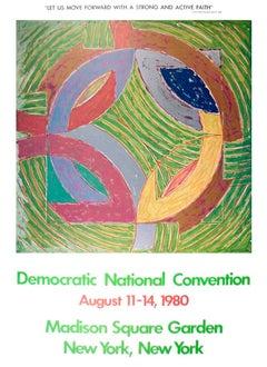 """Frank Stella-Peterson IV-37.75"""" x 27.25""""-Poster-1980-Minimalism-Green"""