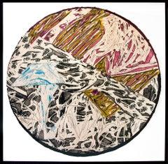 Frank Stella, Swan Engraving Circle II, State III, Etching, Relief, 1983